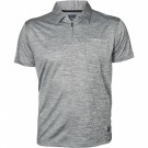 North 56°4 Grey Melange Polo Cool Effect W/zip S/s 3XL-8XL thumbnail