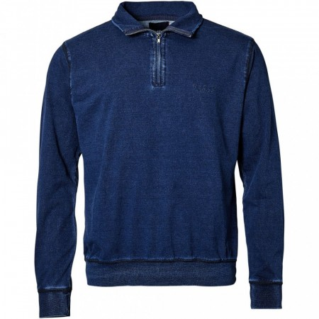 North 56°4 1/2 Zip Indigo Sweat 2XL-5XL