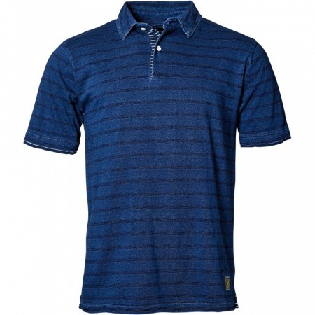 North 56°4 Striped Indigo Polo 2XL-5XL