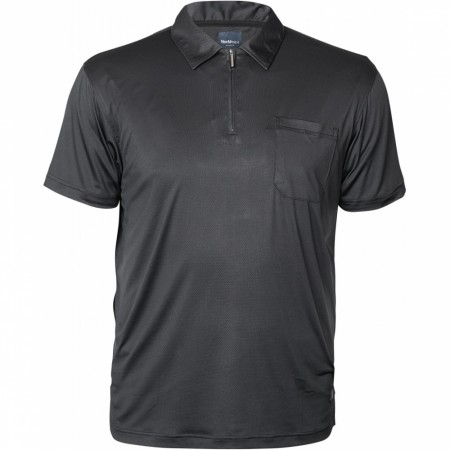 North 56°4 Black Polo Cool Effect W/zip S/s 3XL-5XL