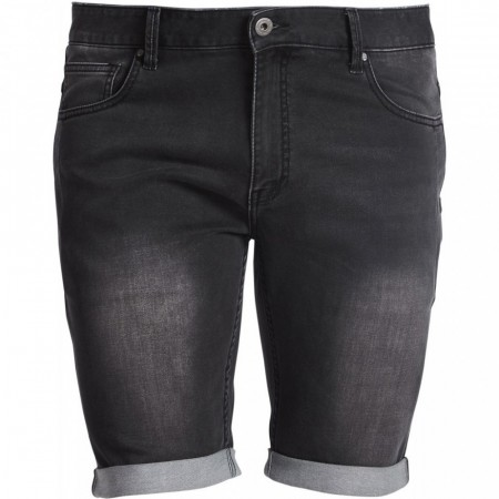 Replika Jeans Shorts Black Used Wash 38