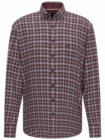 Fynch-hatton Structured Combi Checked Mauve Shirt L-4XL