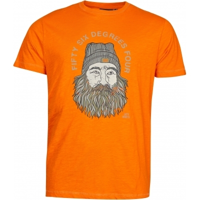North 56°4 Orange Printed T-shirt XXL-7XL