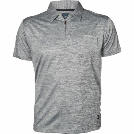North 56°4 Grey Melange Polo Cool Effect W/zip S/s 3XL-8XL