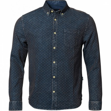 North 56°4 Knitted Allover Printed Shirt L/s 5XL-7XL