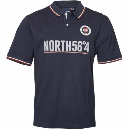 North 56°4 Navy Blue Polo S/s 2XL-7XL