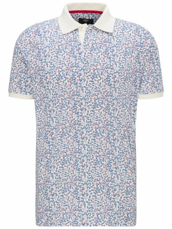 Fynch-hatton White Print Pique M-4XL